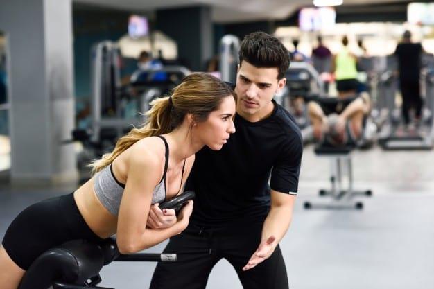muscle gym man woman training