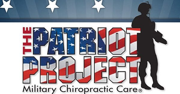 blog illustration of silhouette of soldier with the words the patriot project made to look like an american flag