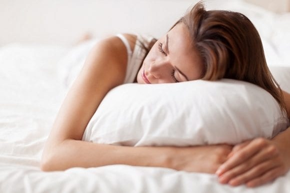 woman in sleep position for back pain