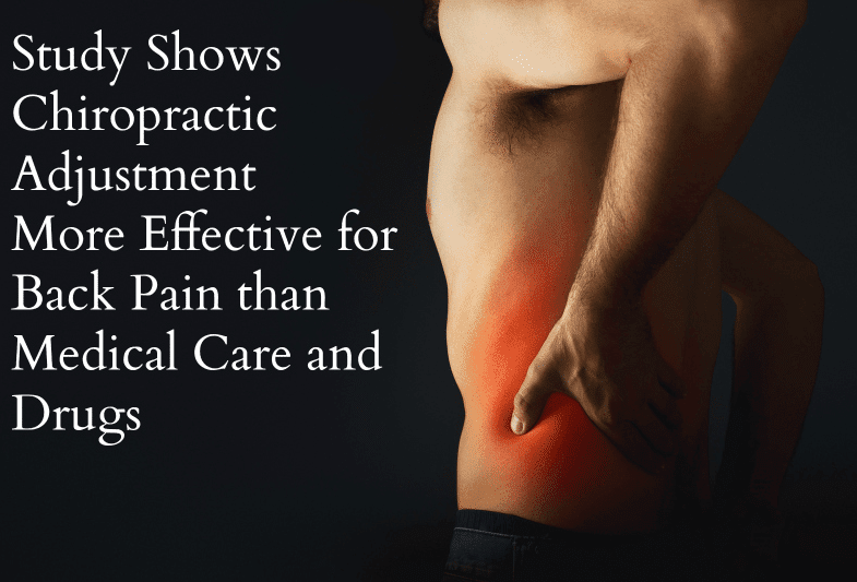 Study Demonstrates Chiropractic Adjustment More Effective For Back Pain Than Drugs & Medical Care