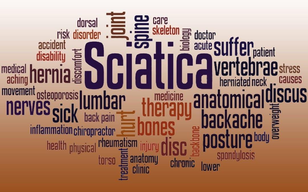 blog picture of sciatica words