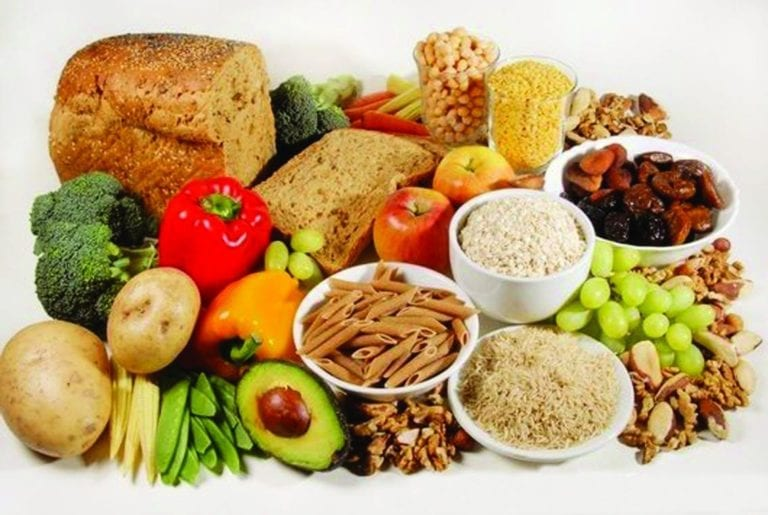 Image of various food groups and their nutrients necessary for IBD.